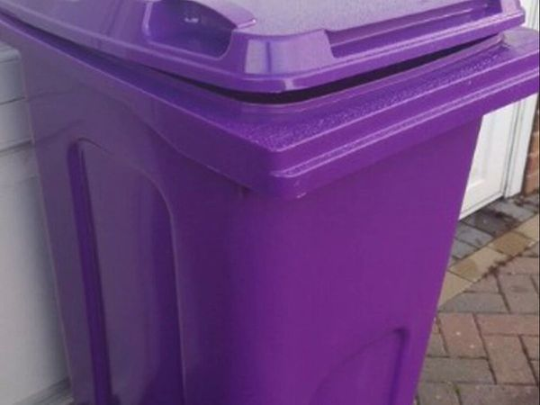 Purple bins are used for garden waste collections in Wolverhampton