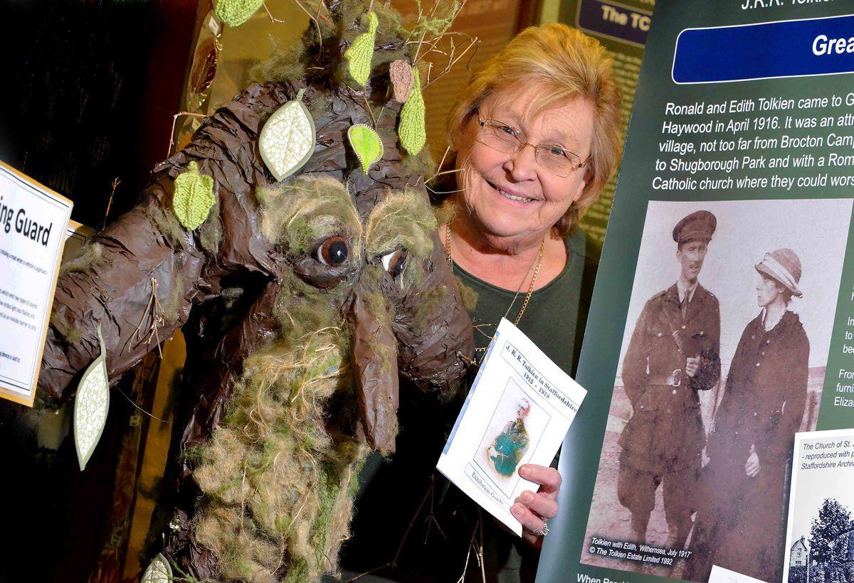 Gill Heath at the J.R.R. Tolkien exhibition