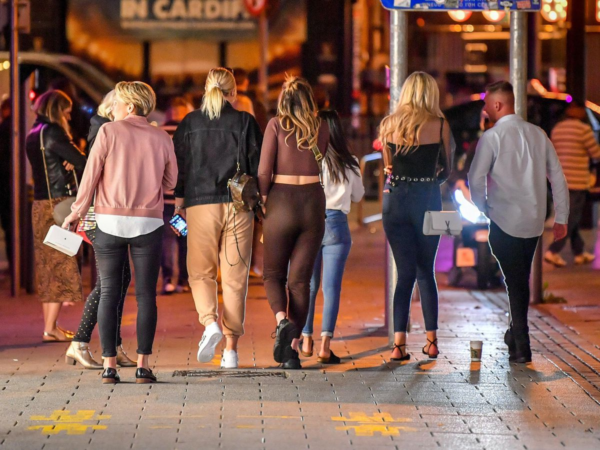People in Cardiff city centre (Ben Birchall/PA)