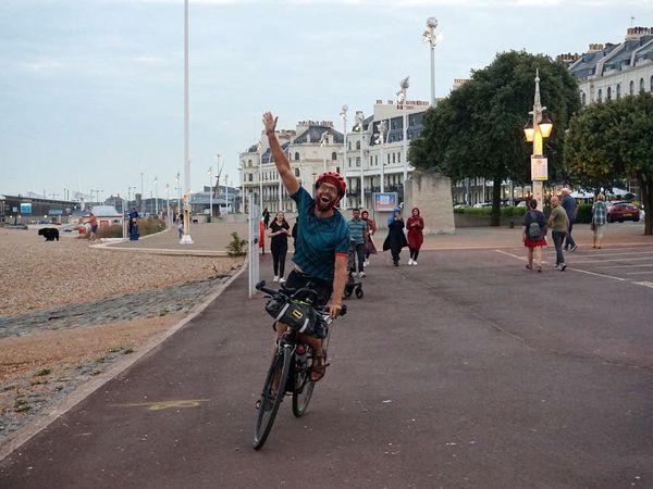 David Charles arriving in Dover