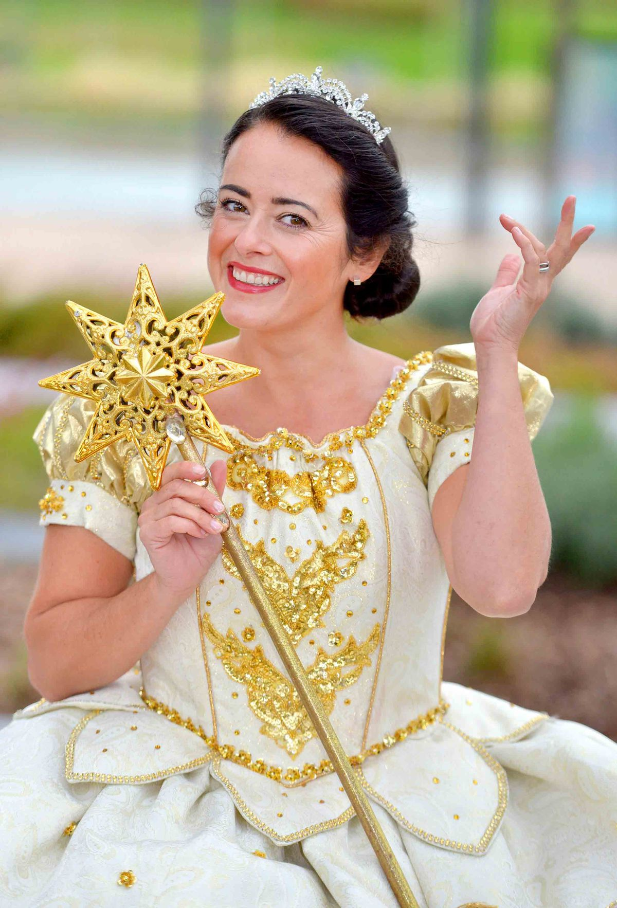 Anna as the Fairy Godmother in Cinderella