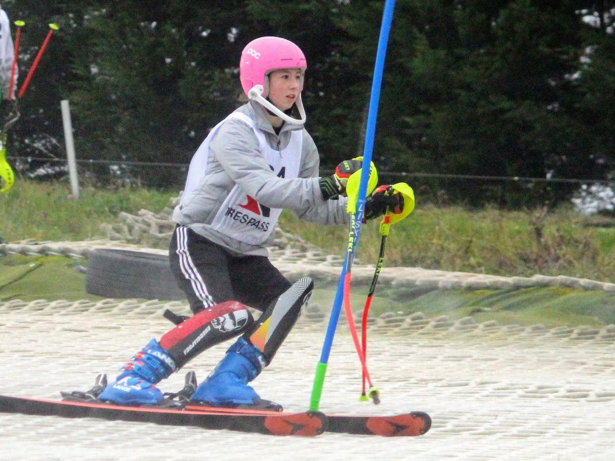 Elena Blaikie, 14, sealed a podium slot in Derbyshire.