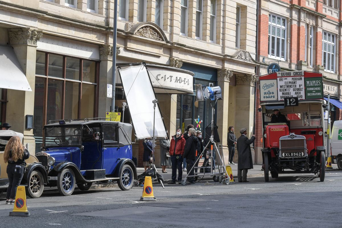 Filming of The Colour Room in Birmingham. Photo: SnapperSK.