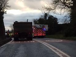 Three hurt in two-car Shifnal crash causing rush hour delays