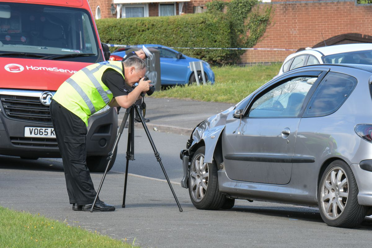 The Peugeot was damaged by the impact of the 75mph crash. Photo: SnapperSK