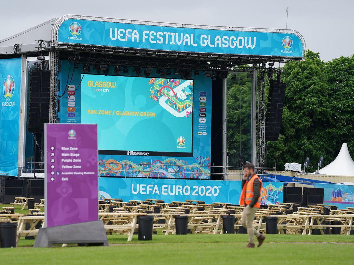 Glasgow Euro 2020 fan zone