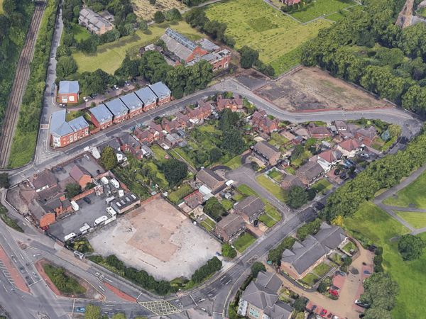 An aerial view showing Tudor Road in Heath Town, Wolverhampton. Photo: Google