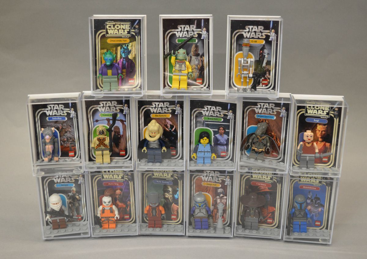 Some of the bounty hunter figures worth £60 which are part of the collection