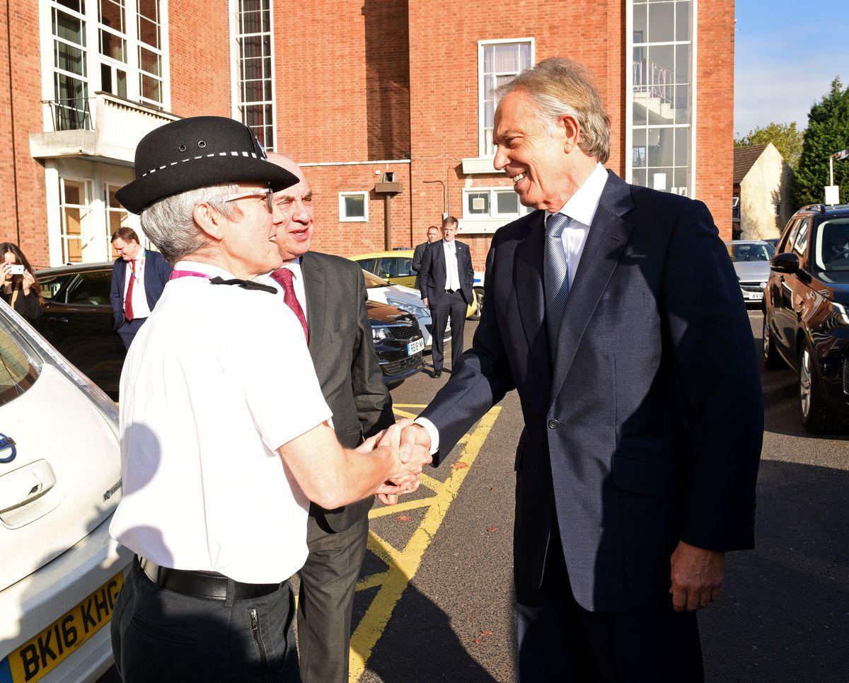 Mr Blair greets Chief Supt Sally Bourner