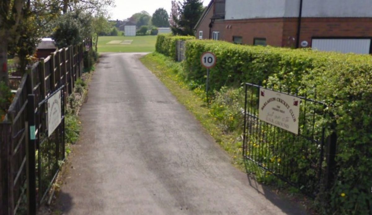 The entrance to Barlaston Cricket Club. Photo: Google Maps