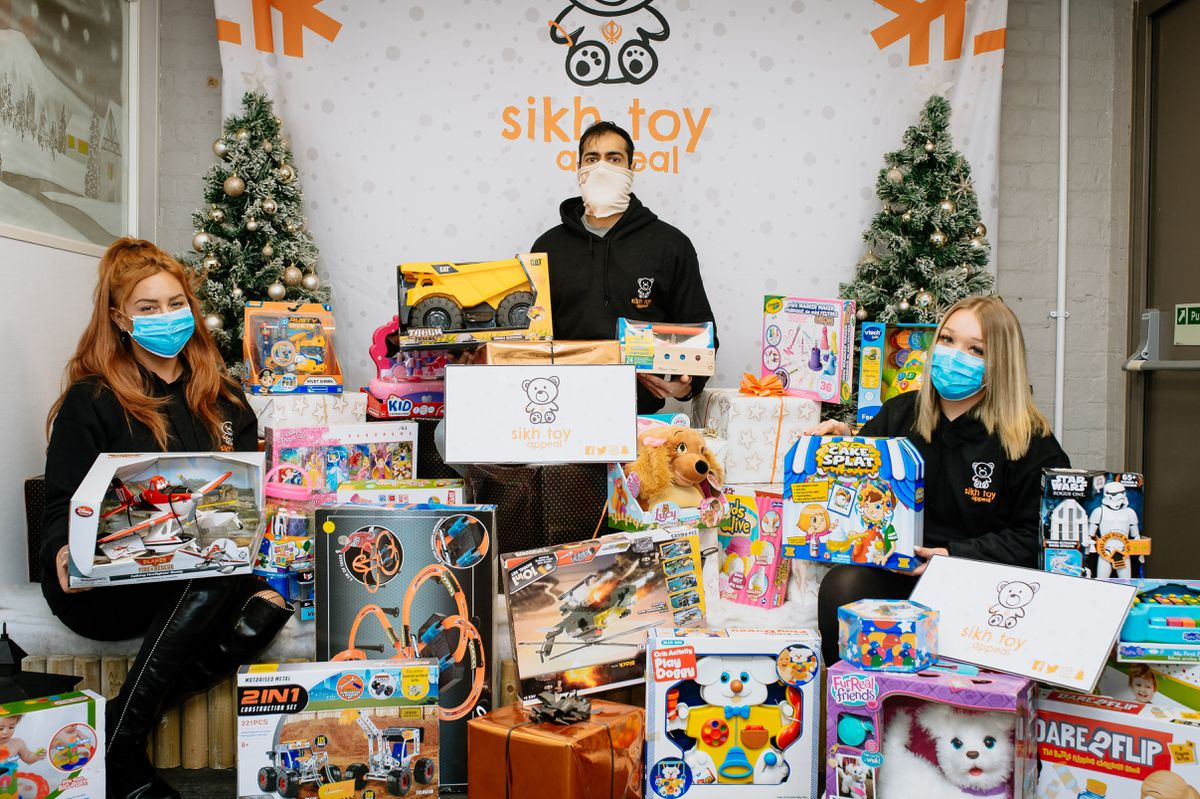 The Sikh Toy Appeal is launching its 2020 Christmas toy appeal with a launch event at its headquarters in Wolverhampton. (L to R) Nadine Lamour, Sunny Dhaliwal and Shauna Cope