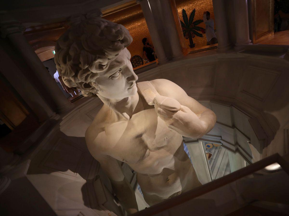 A 3D reproduction of Michelangelo's David