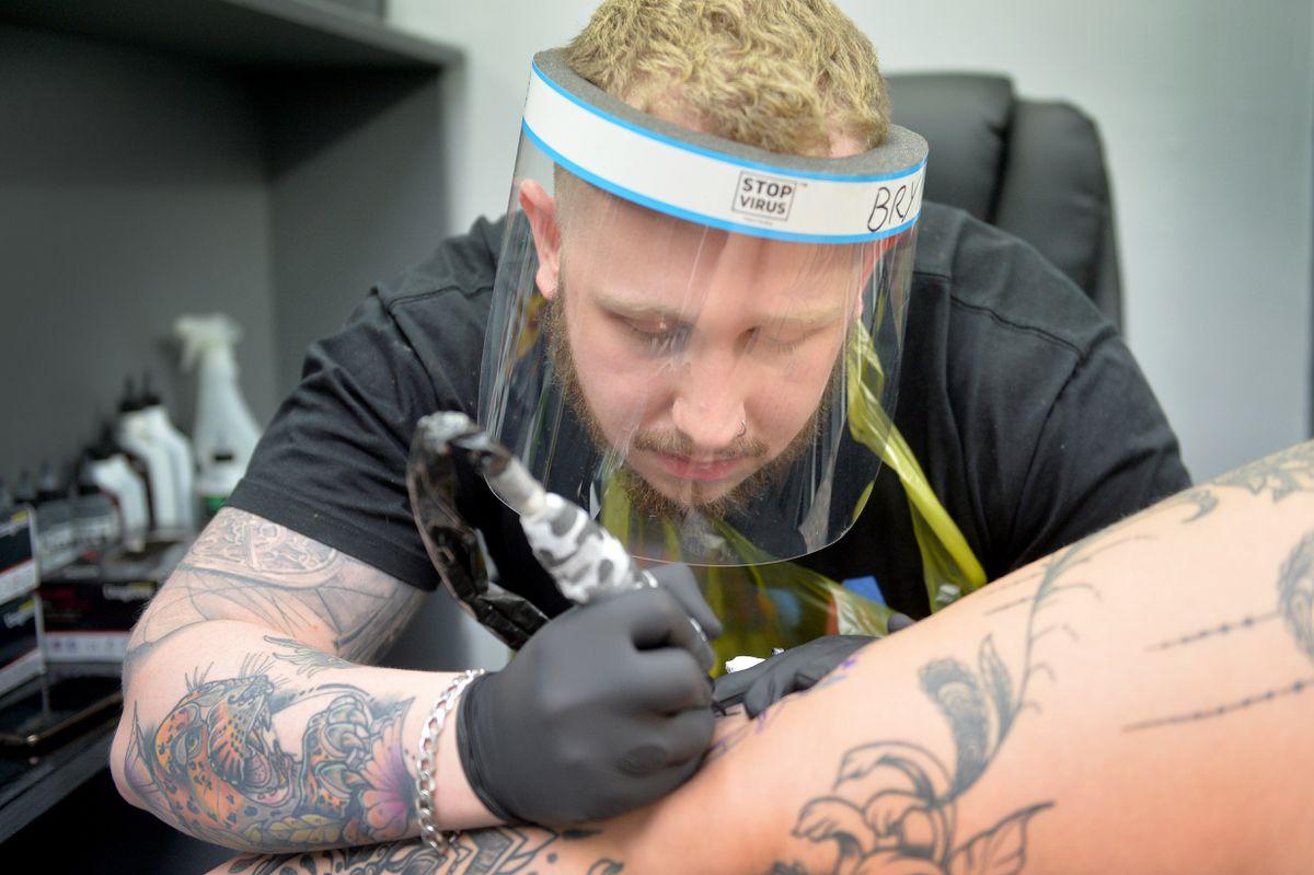 Artist Bryn Sharratt at The Underground Tattoo Studio
