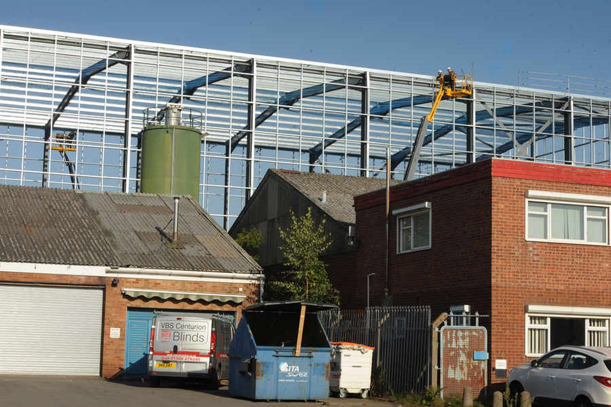 The 53ft construction takes shape in Ham Lane