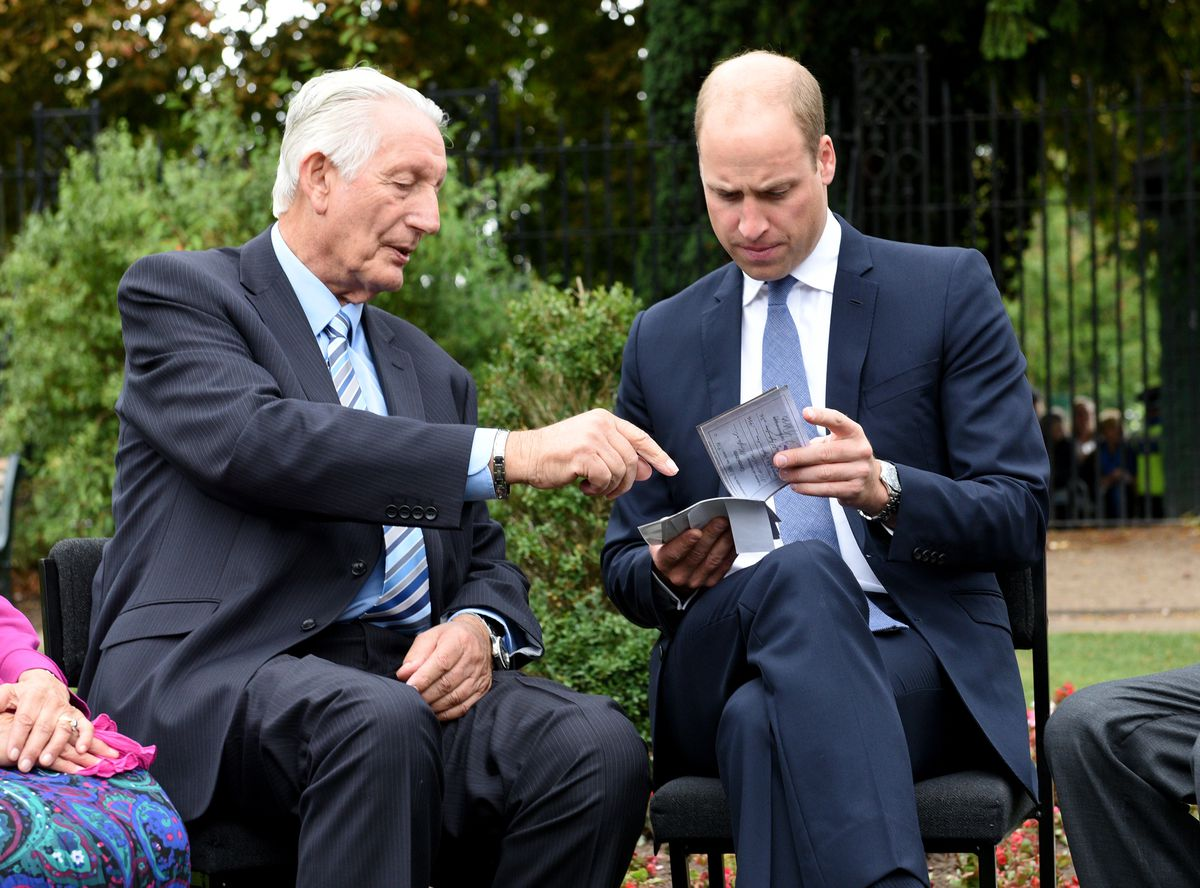 Prince William chats with Michael Mamelock