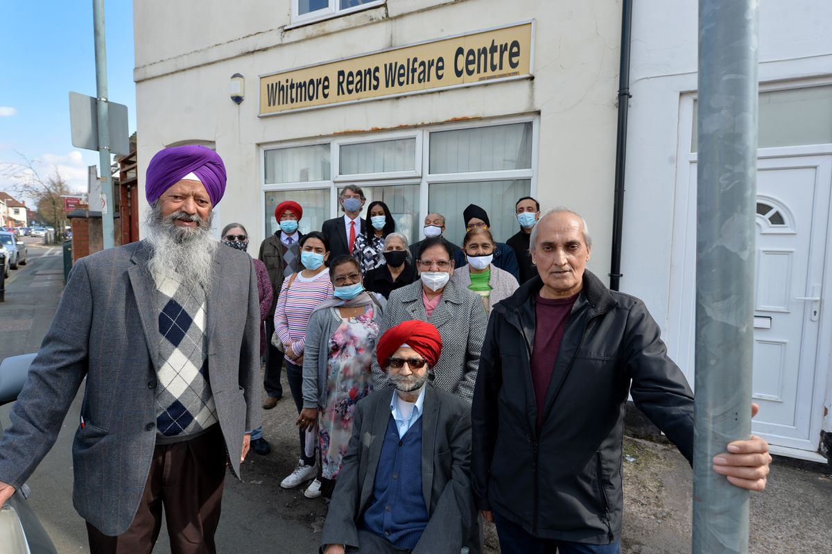 Chair Rob Marris and other members of Whitmore Reans Resource Centre, which has put out a public appeal for donations to help the centre continue to run after the pandemic seriously affected the finances of the centre. Pictured front left, director Davinder Singh Dhesi, founder Surjit Singh Khalsa and treasurer and director Bal Aujla