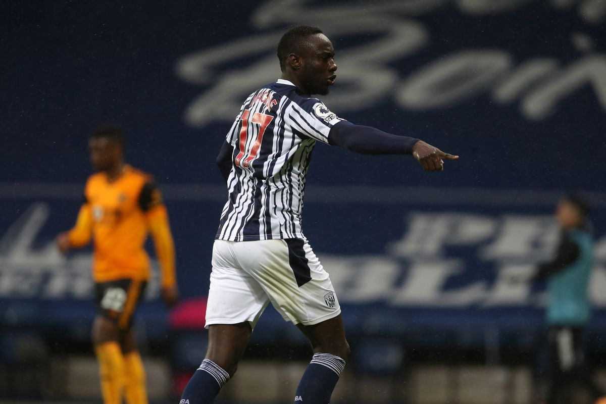 Mbaye Diagne of West Bromwich Albion celebrates after scoring a goal to make it 1-1. (AMA)