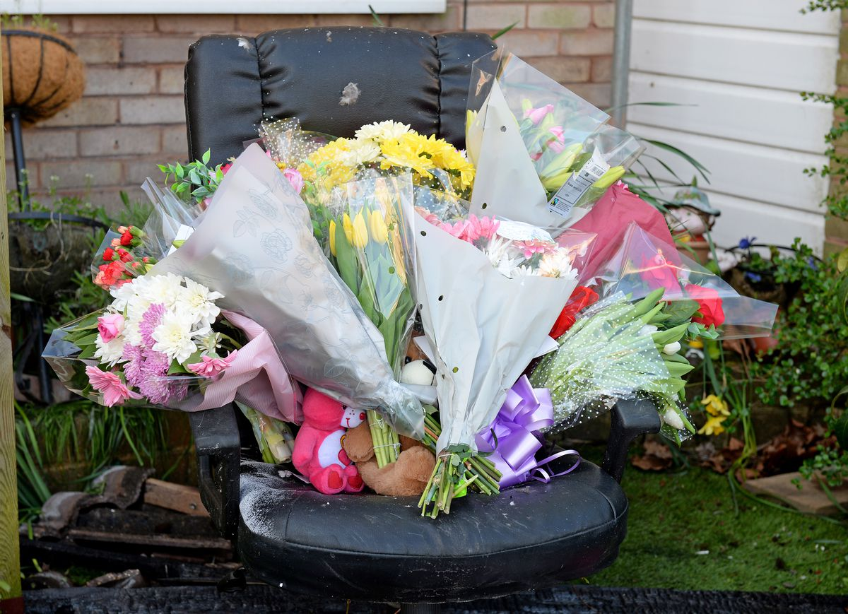 Flowers have now been placed at the scene of the explosion. Photo: Tim Thursfield