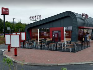 A Costa Coffee drive-thru, similar to this, will be built on land next to Birmingham New Road