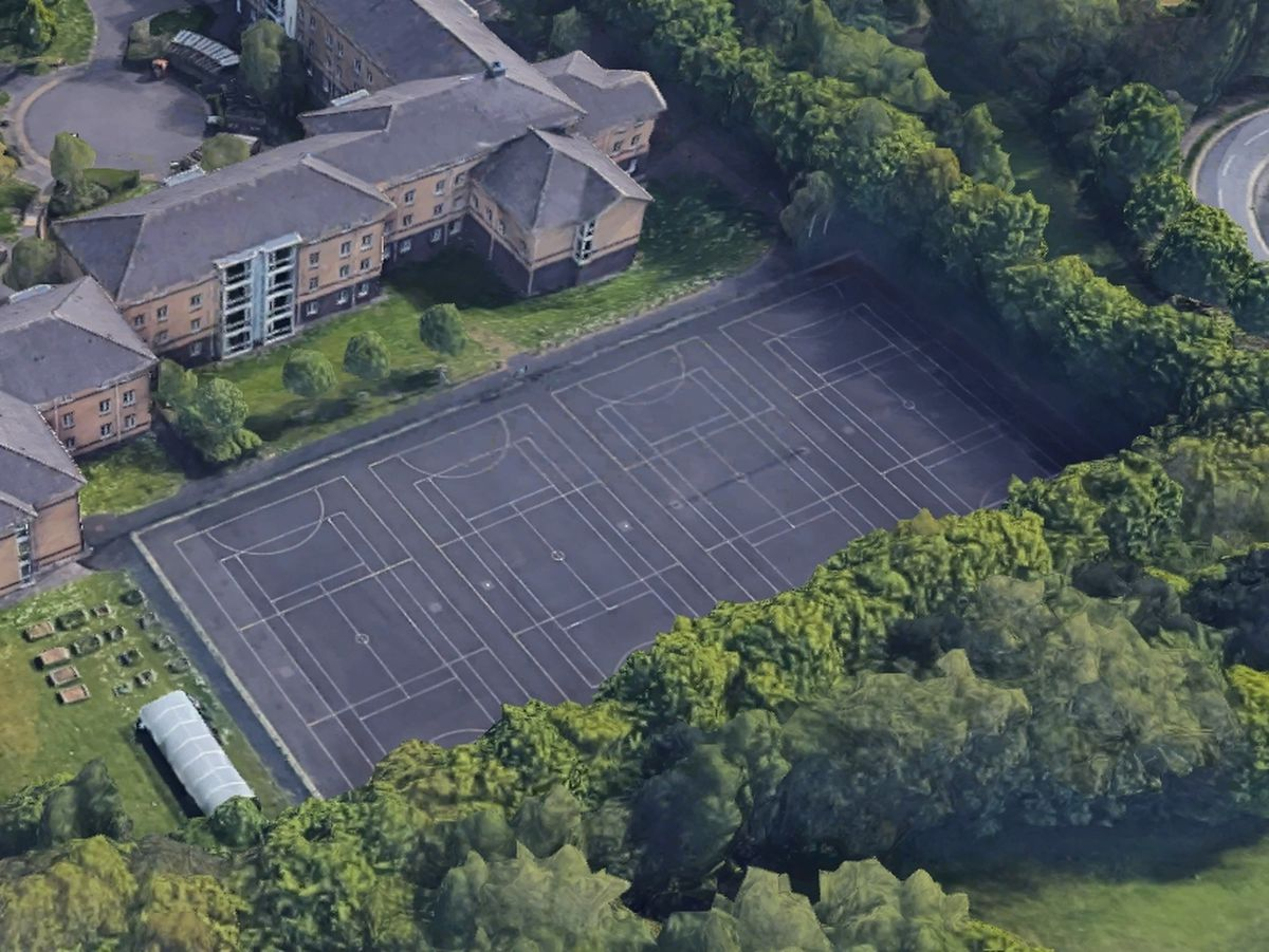 The netball courts at the Walsall campus. Photo: Google