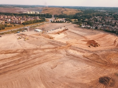 Aerial shots show progress of Cannock's mammoth new designer village