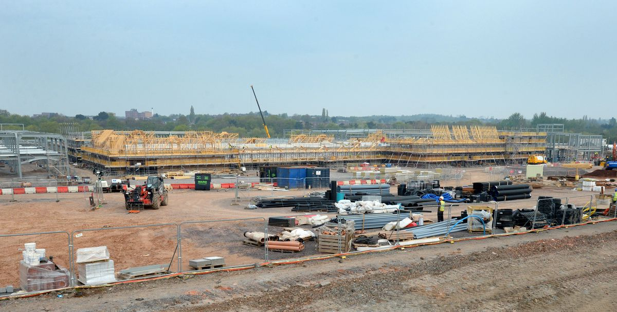 Work is under way at the site
