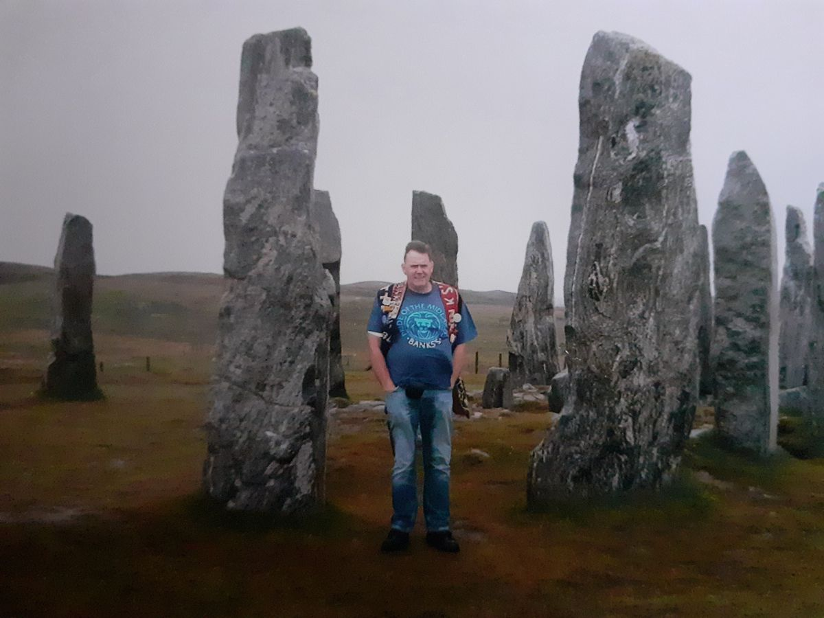 Pete by the Isle of Lewis Standing Stones