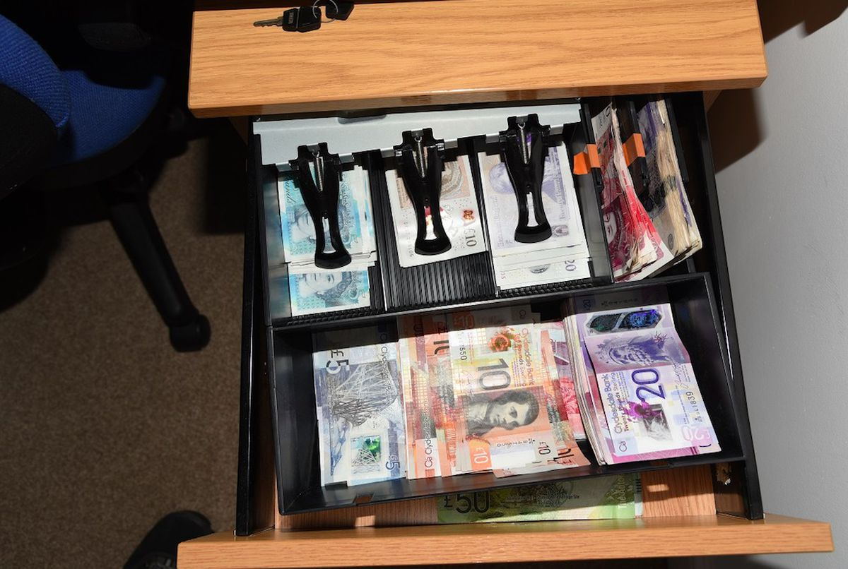 Cash was found hidden in a bed in Sutton Coldfield. Photo: National Crime Agency