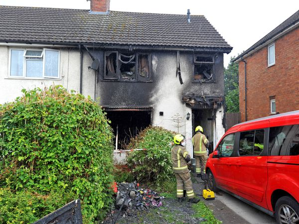 The house in Harvest Road, Smethwick, was gutted by the fire