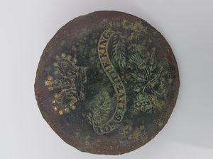 Rare button made to commemorate George III's recovery