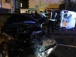 Car crushed as van rolls over in Smethwick crash