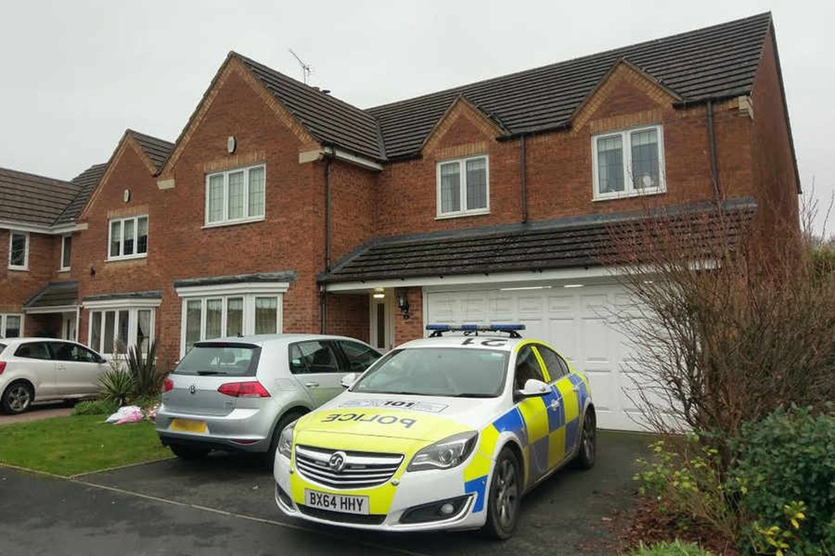 Police outside the home where Natalie was found in Kenrose Mill, Kinver
