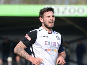SPORT  EXPRESS & STAR ( JOHN SAMBROOKS ) 30/03/2019..Stock picture Hednesford's captain Ben Bailey in their game against Matlock Town at Keys Park, Hednesford...................................................................................................................................................................  .............................