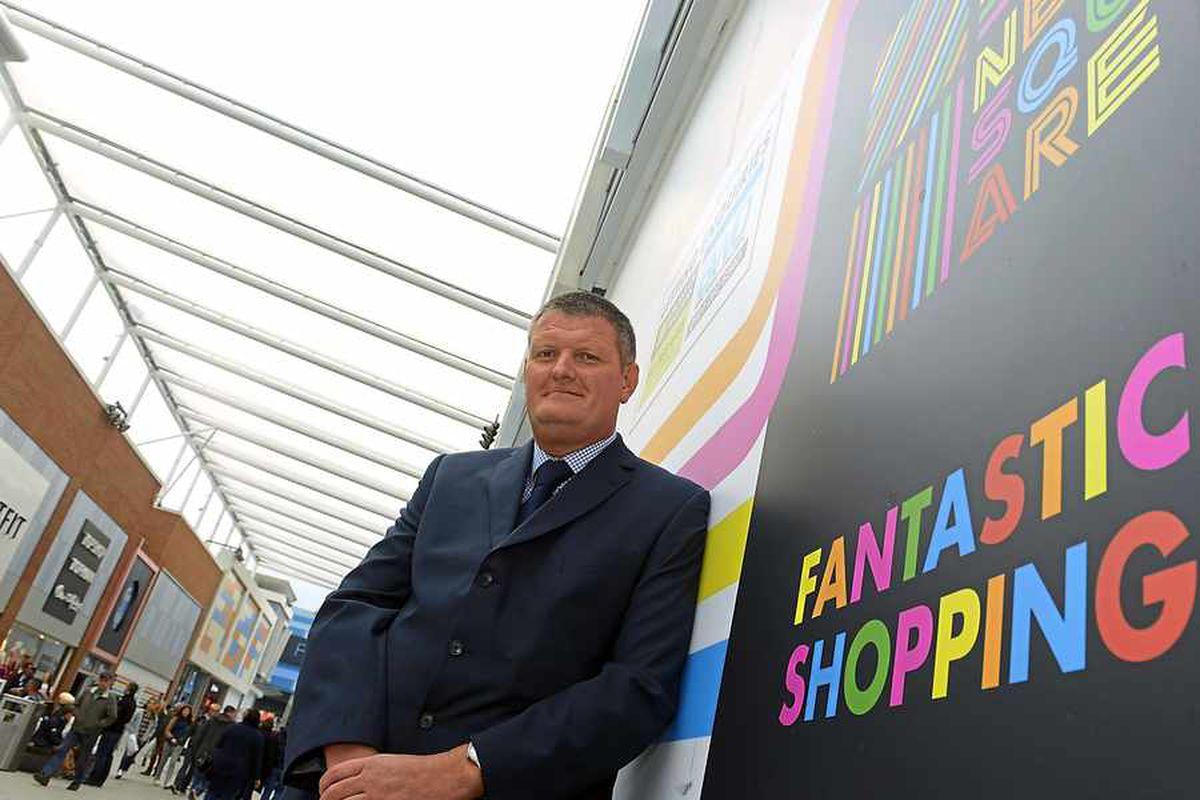 New Square Shopping Centre manager Steve Burr.