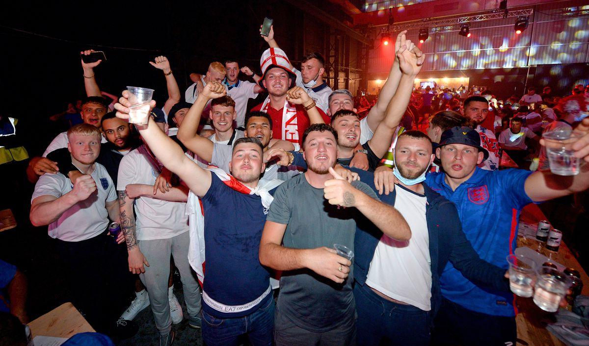 England fans at The Hangar, Wolverhampton