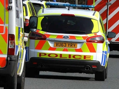 Four taken to hospital after car fleeing Great Wyrley burglary crashes into wall