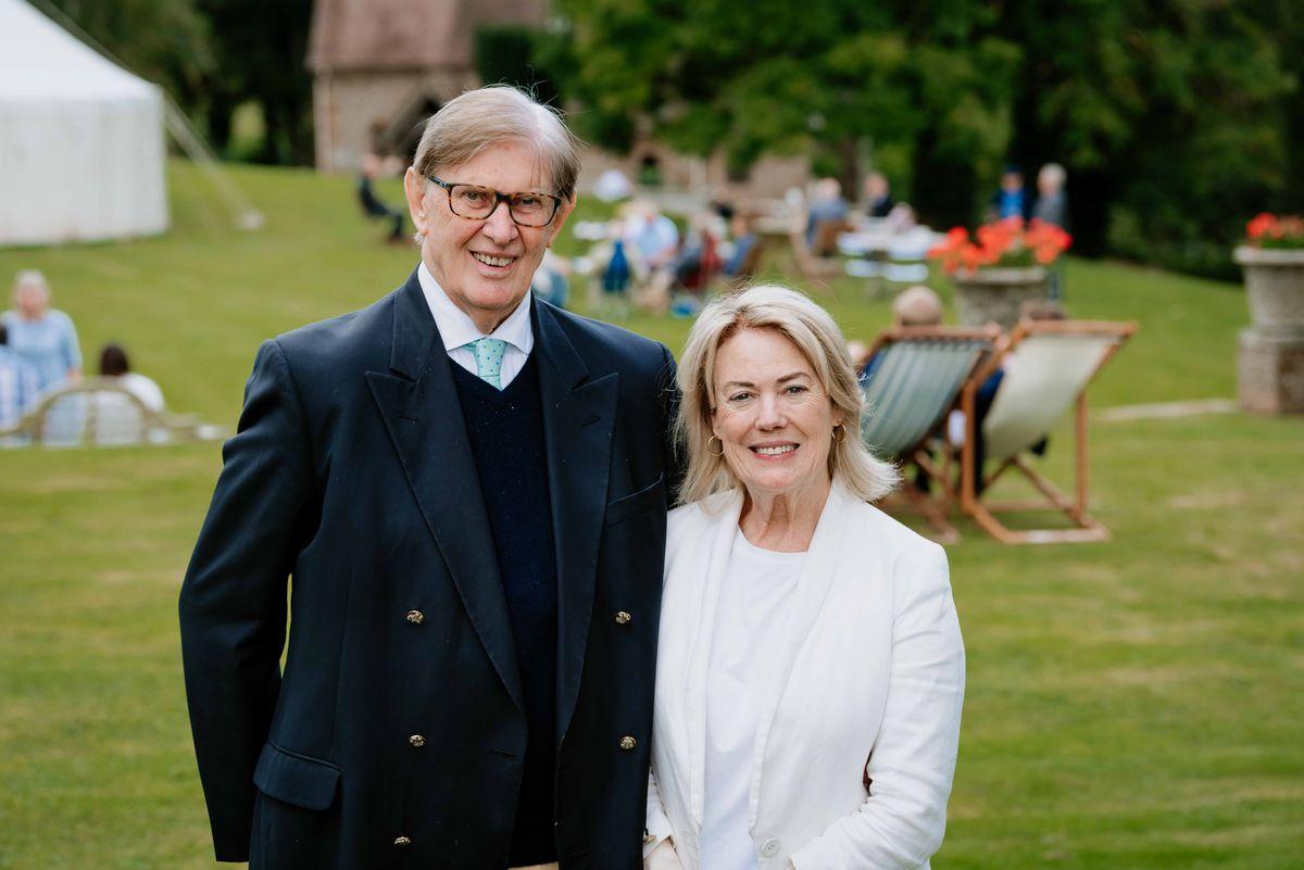 Sir Bill Cash with his wife Bridget Lee