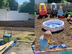 Neighbours build outdoor play park for family of three toddlers