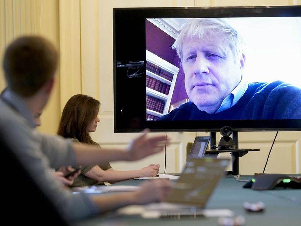 Boris Johnson on screen