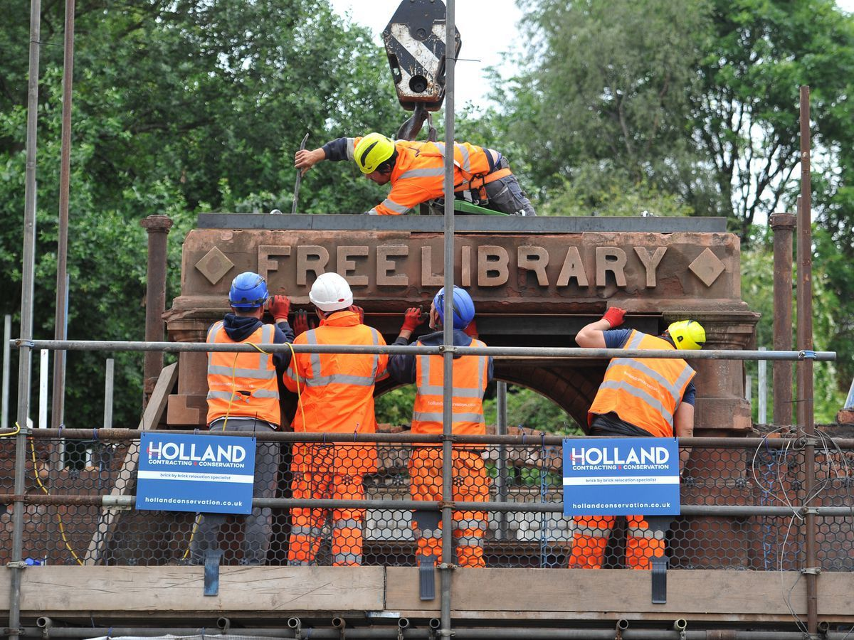Woodside Library in Brierley Hill is being taken down brick by brick to be rebuilt at the Black Country Living Museum