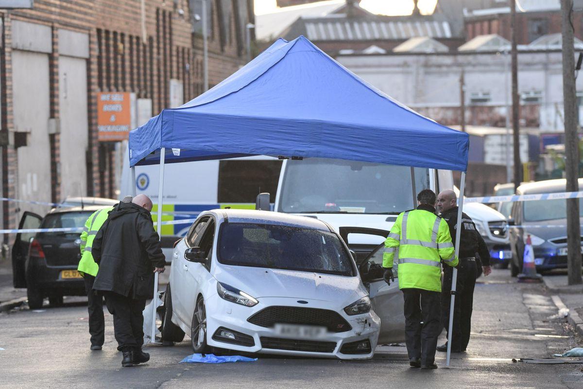 The crash scene in in Heath Street. Photo: SnapperSK.