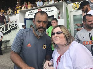 Claire and Wolves head coach Nuno