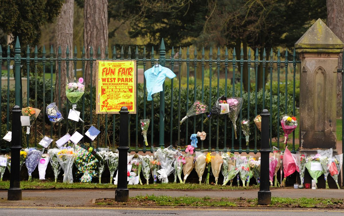 Floral tributes lined the West Park fence in the weeks afterwards