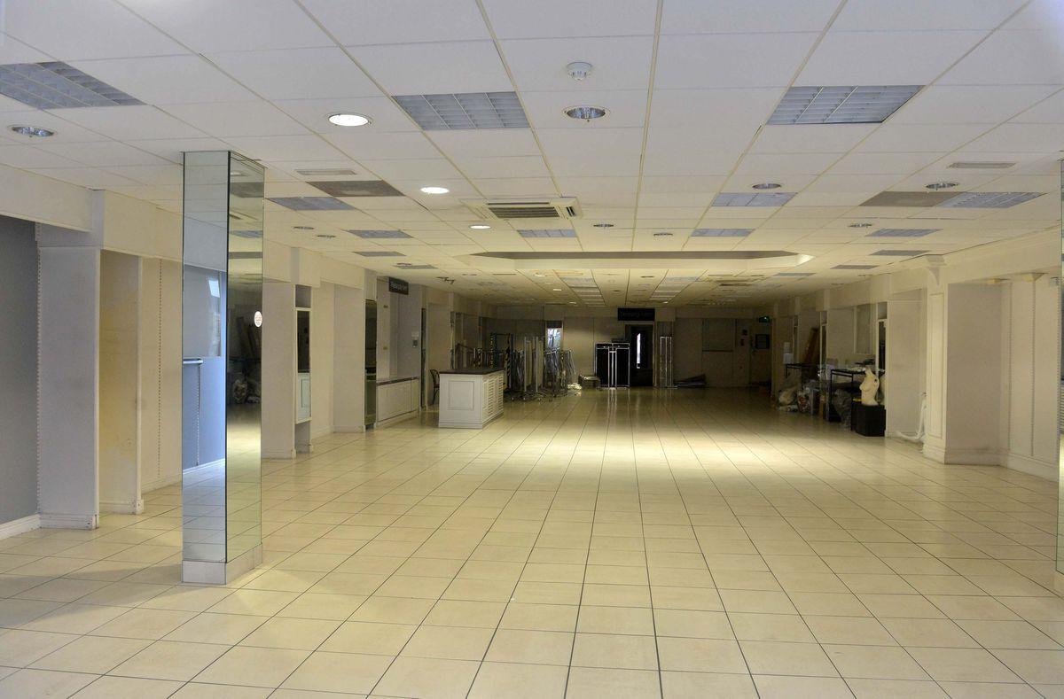 Inside the deserted Bonmarche store