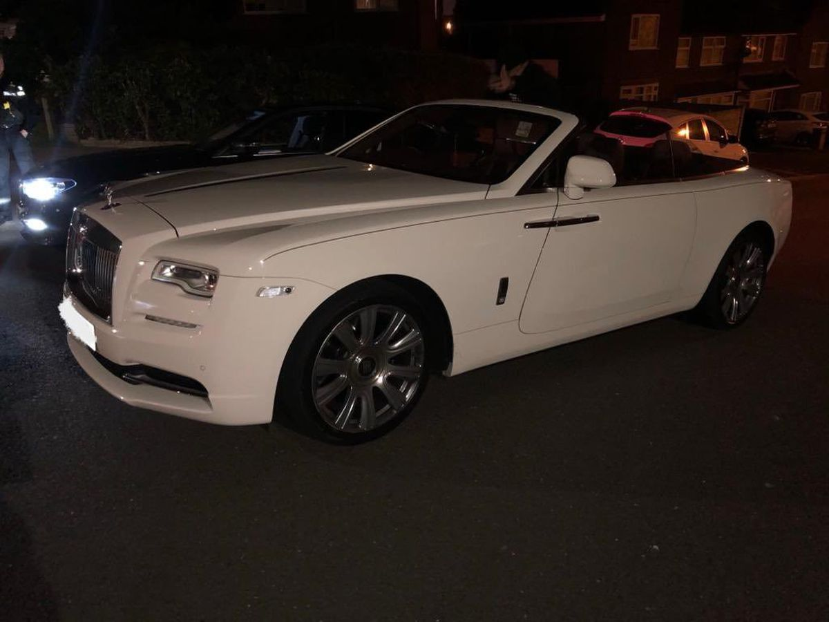 The Rolls Royce stopped by police.  Photo: CMPG
