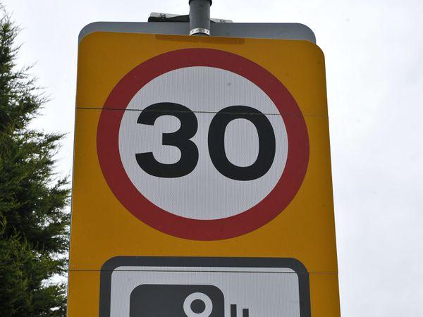 A 30mph road sign