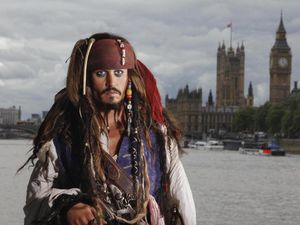 A wax figure portraying Johnny Depp as Captain Jack Sparrow