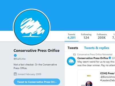 Actor Ralf Little suspended from Twitter for mocking Tory 'factcheck' rebrand