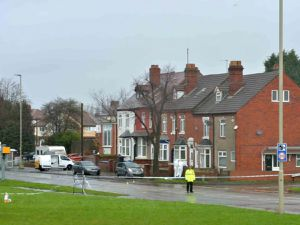 A police cordon was set up after the incident