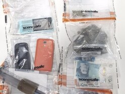 Drugs, cash, mobiles and knife found in Lichfield